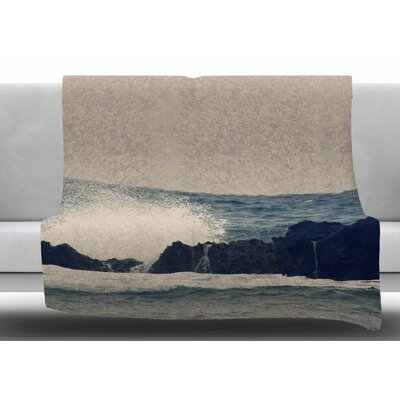 Ocean Blue 2 by Sylvia Coomes Fleece Blanket Size: 60 W x 80 L