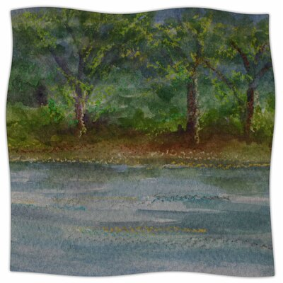 Storm On The Pond By Cyndi Steen Fleece Blanket Size: 80 L x 60 W x 1 D