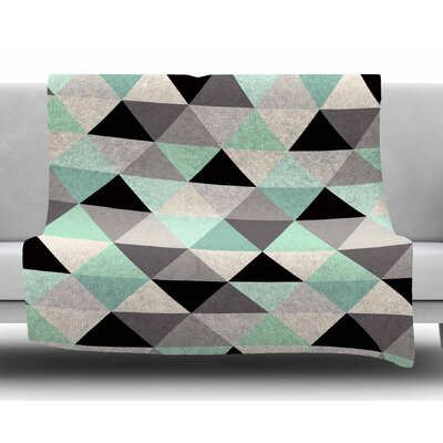 Triangle Geo by Crystal Walen Fleece Blanket Size: 60 W x 80 L
