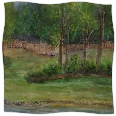 A Storm At The Strand By Cyndi Steen Fleece Blanket Size: 80 L x 60 W x 1 D