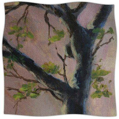 Aussie Tree By Cyndi Steen Fleece Blanket Size: 60 L x 50 W x 1 D