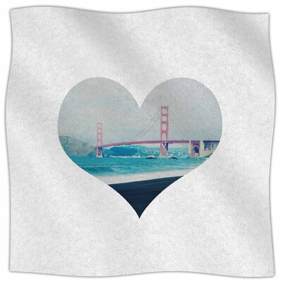 San Francisco Love By Chelsea Victoria Fleece Blanket Size: 60 L x 50 W x 1 D
