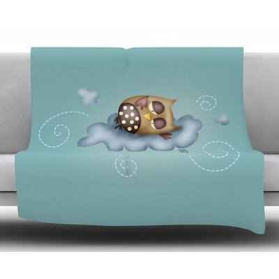 Sleepy Guardian by Carina Povarchik Fleece Blanket Size: 50 W x 60 L