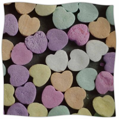 Candy Love By Cristina Mitchell Fleece Blanket Size: 80 L x 60 W x 1 D