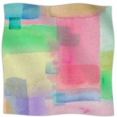 Watercolor Brushstrokes By Catherine Holcombe Fleece Blanket Size: 80 L x 60 W x 1 D