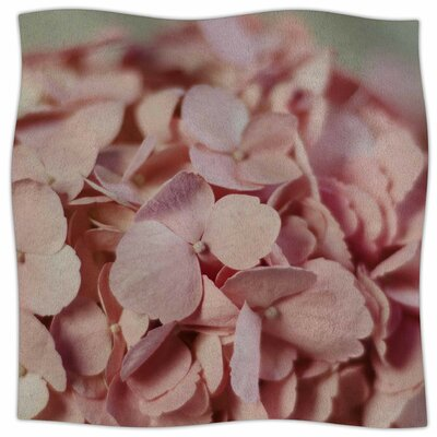Hydrangea By Cristina Mitchell Fleece Blanket Size: 60 L x 50 W x 1 D