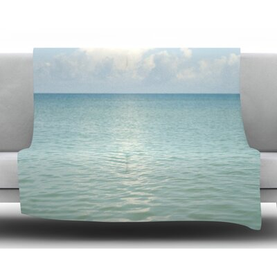 Cloud Reflection by Catherine McDonald Fleece Blanket Size: 50 W x 60 L