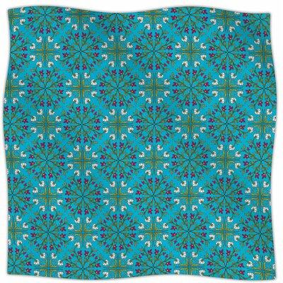 Morrocan Tile By Mayacoa Studio Fleece Blanket Size: 60 L x 50 W x 1 D