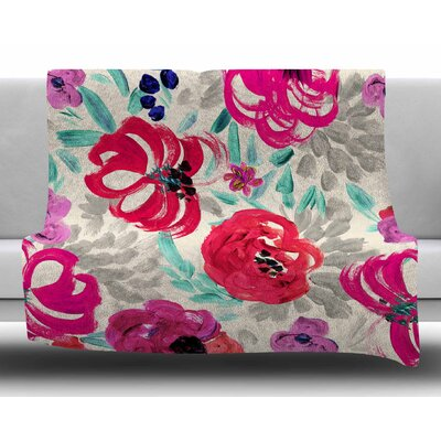 Mona Brush Stroke by Crystal Walen Fleece Blanket Size: 60 W x 80 L