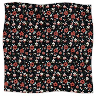 Floral Field By Mayacoa Studio Fleece Blanket Size: 60 L x 50 W x 1 D
