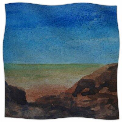 Beach Rocks By Cyndi Steen Fleece Blanket Size: 60 L x 50 W x 1 D