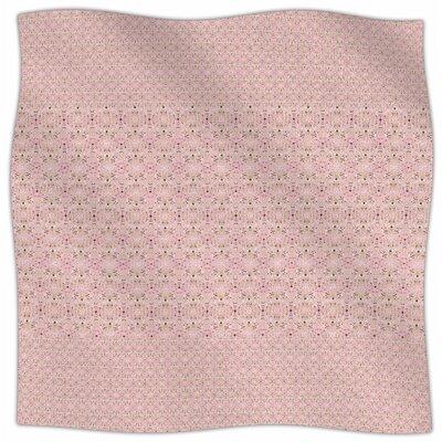 Modern Shabby By Carolyn Greifeld Fleece Blanket Size: 80 L x 60 W x 1 D, Color: Red