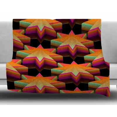 Star Pattern by Danny Ivan Fleece Blanket Size: 50 W x 60 L