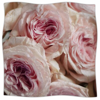 Roses By Cristina Mitchell Fleece Blanket Size: 80 L x 60 W x 1 D