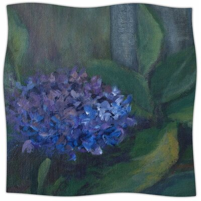 Hydrangea By Cyndi Steen Fleece Blanket Size: 80 L x 60 W x 1 D