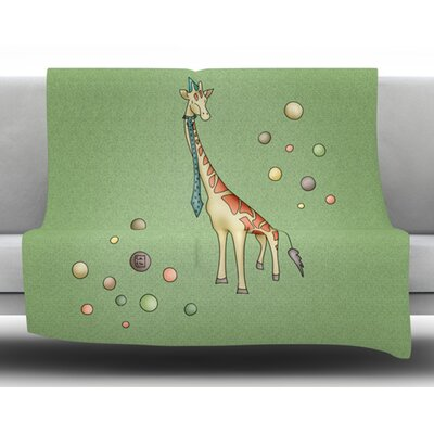 Giraffe by Carina Povarchik Fleece Blanket Size: 50 W x 60 L
