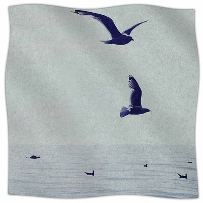 Two If By Sea By Chelsea Victoria Fleece Blanket Size: 80 L x 60 W x 1 D