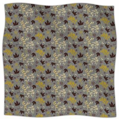 Fall Leaves By Mayacoa Studio Fleece Blanket Size: 60 L x 50 W x 1 D