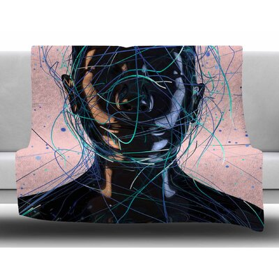 Calm Woman by Danny Ivan Fleece Blanket Size: 60 W x 80 L
