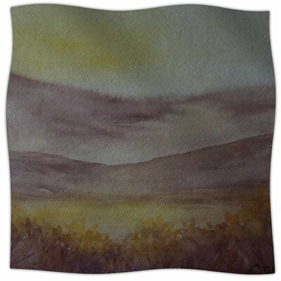 Mauve Sunset By Cyndi Steen Fleece Blanket Size: 80 L x 60 W x 1 D