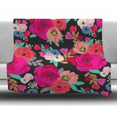 Sweet Pea by Crystal Walen Fleece Blanket Size: 60 W x 80 L