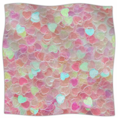 Hearts Galore By Debbra Obertanec Fleece Blanket Size: 80 L x 60 W x 1 D