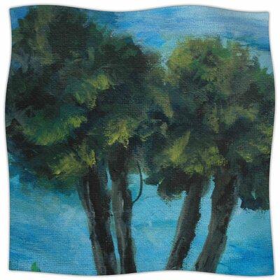 Twin Palms By Cyndi Steen Fleece Blanket Size: 60 L x 50 W x 1 D