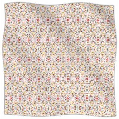 Modern Shabby By Carolyn Greifeld Fleece Blanket Size: 60 L x 50 W x 1 D, Color: Bright Red