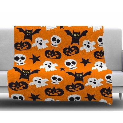 Spooktacular Fleece Blanket Size: 50 W x 60 L