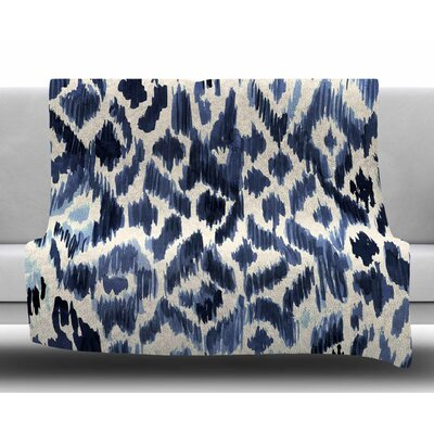 Leopard Tribal by Crystal Walen Watercolor Fleece Blanket Size: 60 W x 80 L