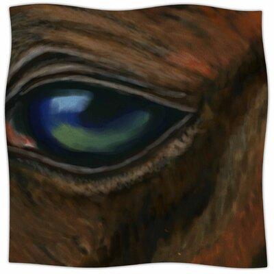 Arabian Eye By Cyndi Steen Fleece Blanket Size: 60 L x 50 W x 1 D