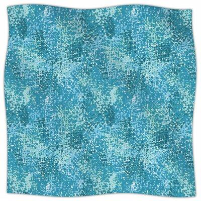 Painterly By Carolyn Greifeld Fleece Blanket Size: 60 L x 50 W x 1 D, Color: White