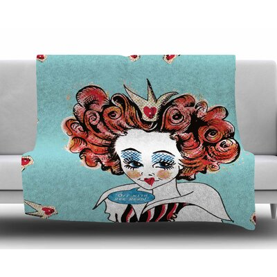 Off WIth Her Head by Zara Martina Fleece Blanket Size: 60 W x 80 L