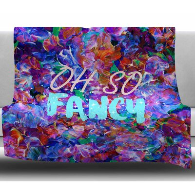 Oh So Fancy by Ebi Emporium Fleece Blanket Size: 50