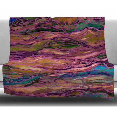 Marble Idea! - Jewel Tone by Ebi Emporium Fleece Blanket Size: 60