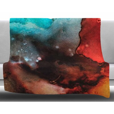 Birth Place of The Heavens by Abstract Anarchy Design Fleece Blanket Size: 60 W x 80 L