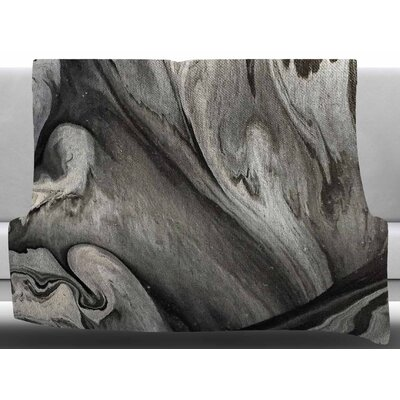 Inner Chaos by Abstract Anarchy Design Fleece Blanket Size: 60