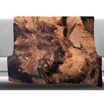King Midas by Abstract Anarchy Design Fleece Blanket Size: 50