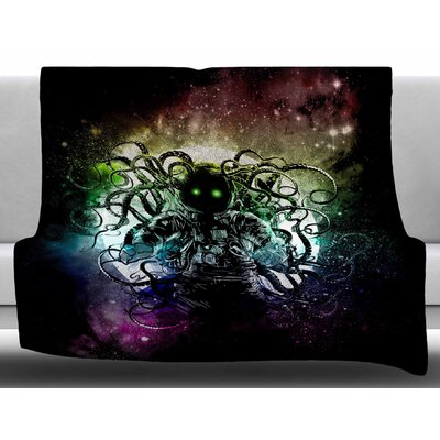 Terror from Deep Space by Fedrick Levy Hadida Fleece Blanket Size: 50 W x 60 L