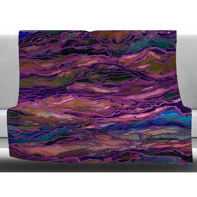Marble Idea! - Jewel Tone by Ebi Emporium Fleece Blanket Color: Purple/Pink, Size: 60 W x 80 L