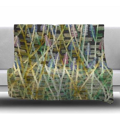 Russian Sage by Laura Nicholson Fleece Blanket Size: 50 W x 60 L