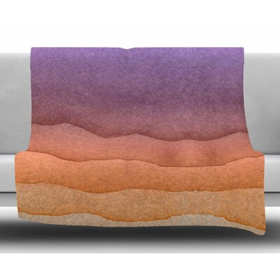 Ombre Sunrise Fleece Blanket Size: 50 W x 60 L