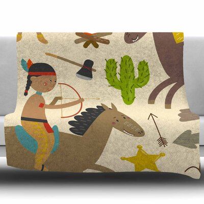 Tipi by Petit Griffin Fleece Blanket Size: 60 W x 80 L