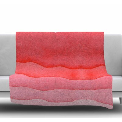 Ombre Cherries Fleece Blanket Size: 60 W x 80 L