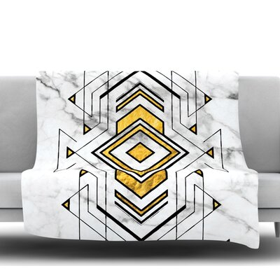 Geo Marble Graphic Fleece Blanket Size: 60 W x 80 L