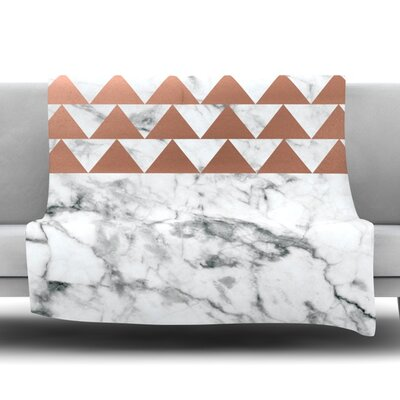 Marble & Metal Fleece Blanket Size: 50 W x 60 L
