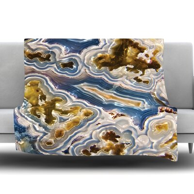 Agate Fleece Blanket Size: 60 W x 80 L