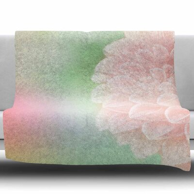 Sweet Pink by Robin Dickinson Fleece Blanket Size: 60 W x 80 L