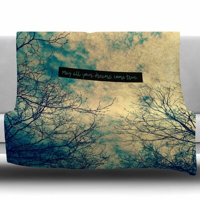 May All Your Dreams Come True by Robin Dickinson Fleece Blanket Size: 50 W x 60 L