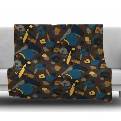 Abstract Leopard by Luvprintz Fleece Blanket Size: 50 W x 60 L